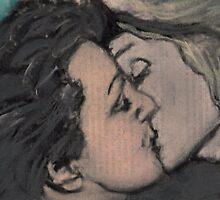 Kiss between Edith Piaf and Marlene Dietrich by zadumki