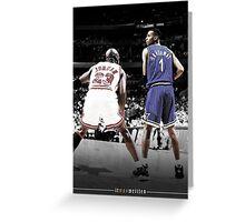 Michael Jordan & Penny Hardaway - It Was Written Greeting Card