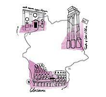 Italy - Rome map by katrina carlisle