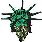 Statue of Liberty Bandana by joebarondesign