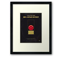 No003 My 2001 A space odyssey 2000 minimal movie poster Framed Print