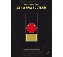 No003 My 2001 A space odyssey 2000 minimal movie poster Photographic Print