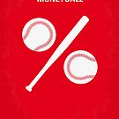 No191 My Moneyball minimal movie poster by Chungkong