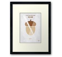No041 My Ice Age minimal movie poster Framed Print