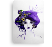 Purple Pansy Faerie Canvas Print