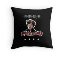 Consulting detective Sherlock Holmes Throw Pillow