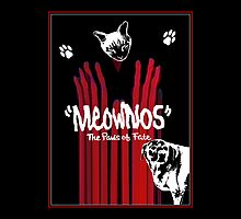"""Meownos"" The Paws of Fate Pillow/Tote by Margaret Bryant"