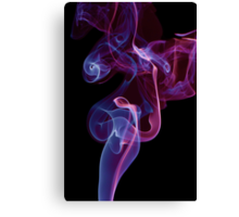 blue pink whirl twisted smoke abstract  Canvas Print