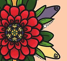 Stain Glass Flower by Emma  Mazzuca