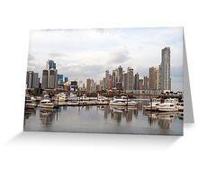 Panama City skyline, Panama. Greeting Card