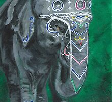 Painted elephant - Happy face by KoreanRussell