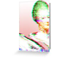 Pink Marie Glitch Greeting Card