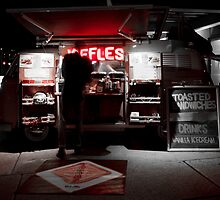 Red Neon JAFFLES by Splendiferous Images