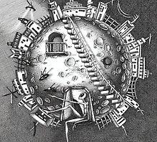 Alien on the moon by Diana Hlevnjak