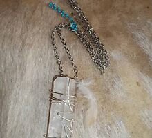 Large Clear Quartz Crystal Pendant by Maree  Clarkson