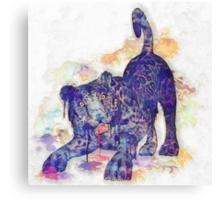 Panther Splash Canvas Print