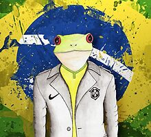 Brazil frog 2014 by characters