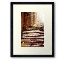 Stairs To Light Framed Print