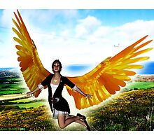 Angel of Clare in Flight Photographic Print