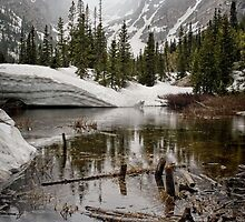 """Mirror Lake June Snow"" RMNP by johnny gomez"