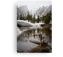 """Mirror Lake June Snow"" RMNP Canvas Print"