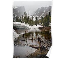 """Mirror Lake June Snow"" RMNP Poster"