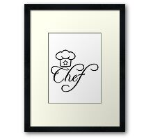Head Chef's hat star Framed Print