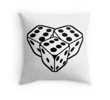 666 dice Throw Pillow