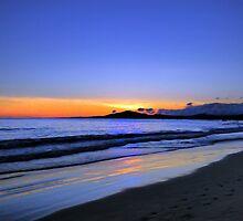 Isabela Sunset Painting by Al Bourassa