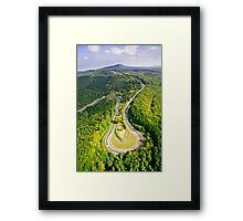 Aerial shot #3 of the Nürburgring Nordschleife Caracciola Karussell Framed Print