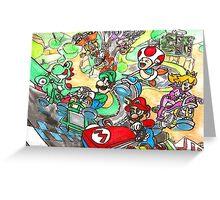 Super Mario Kart 8 Greeting Card