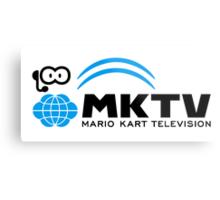 Mario Kart TV (Black) Metal Print