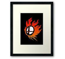 Smash Bros Emblem Red Framed Print