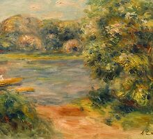 The Boat on the Lake by Bridgeman Art Library