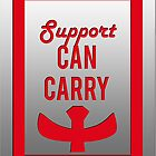 """""""Support can carry"""" design in bright red by jayman1998"""