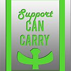 """""""Support can carry"""" design in bright green by jayman1998"""