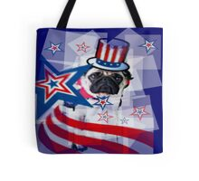 Puggy 4th of July Tote Bag