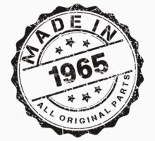 MADE IN 1965 ALL ORIGINAL PARTS by smrdesign