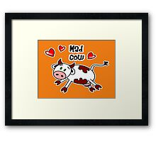 Mad Cow Framed Print