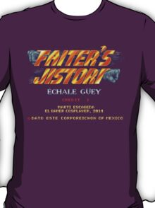 Fighter's History - Title Screen Spoof T-Shirt