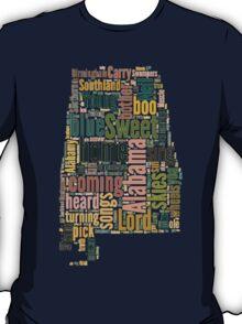 Sweet Home Alabama Map Typography T-Shirt