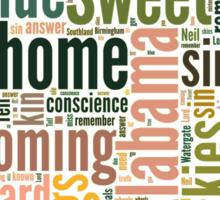 Sweet Home Alabama Map Typography Sticker