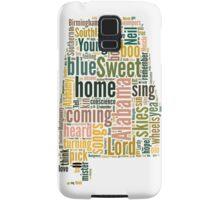 Sweet Home Alabama Map Typography Samsung Galaxy Case/Skin