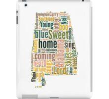Sweet Home Alabama Map Typography iPad Case/Skin