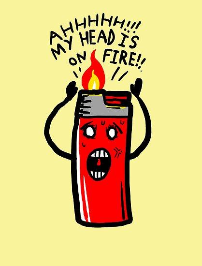 my head is on Fire by Jonah Block