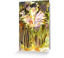 Surprise Lilies II A Portrait Greeting Card