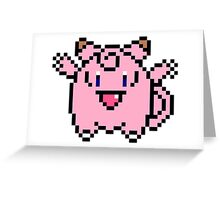8 bit Clefairy Greeting Card