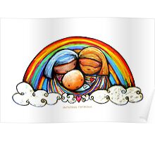Christmas Rainbows Nativity  Poster