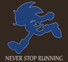 Never Stop Running Sonic Shirt by galaxy-kat