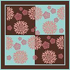 Brown, Pink and Aqua Floral Design by Greenbaby